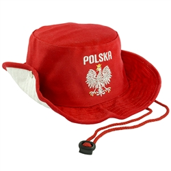Embroidered Silver Polish Eagle Youth Hat I