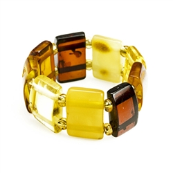 Multi Color Amber Stretch Ring