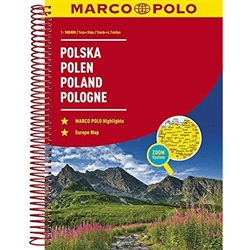 Poland Marco Polo Road Atlas Spiral-bound