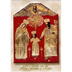 St. Joseph And The Holy Family Of Kalisz Note Card