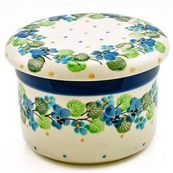 Polish Pottery Stoneware Butter Bell Crock