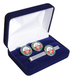 Polish Armed Forces Cuff Links and Tie Bar Set