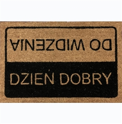Good Day/Goodby Door Mat - Dzien Dobry/Do Widzenia