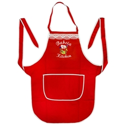 Polish Kitchen Apron - 'Kuchnia Babci' - Grandma's Kitchen (Red)