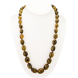"22"" Baltic Amber Beaded Necklace"