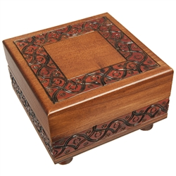 Square Secret Opening Polish Puzzle Box