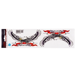 Flying High Poland Eagle Stickers Set of Two - 6.5