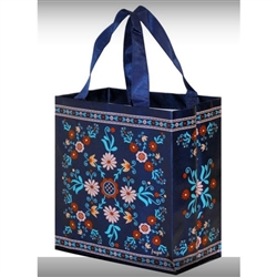 Polish Small Folklore Tote Bag - Navy Blue