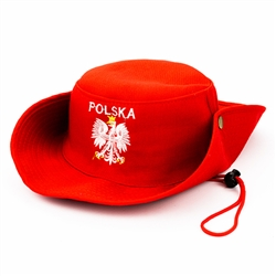 Embroidered Silver Polish Eagle Youth Hat II