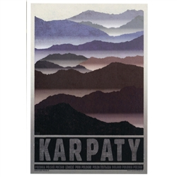 Post Card: Karpaty, Polish Promotion Poster