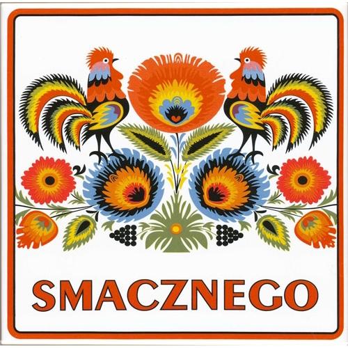 Polish Art Center - Smacznego Ceramic Trivet/Wall Tile With ...
